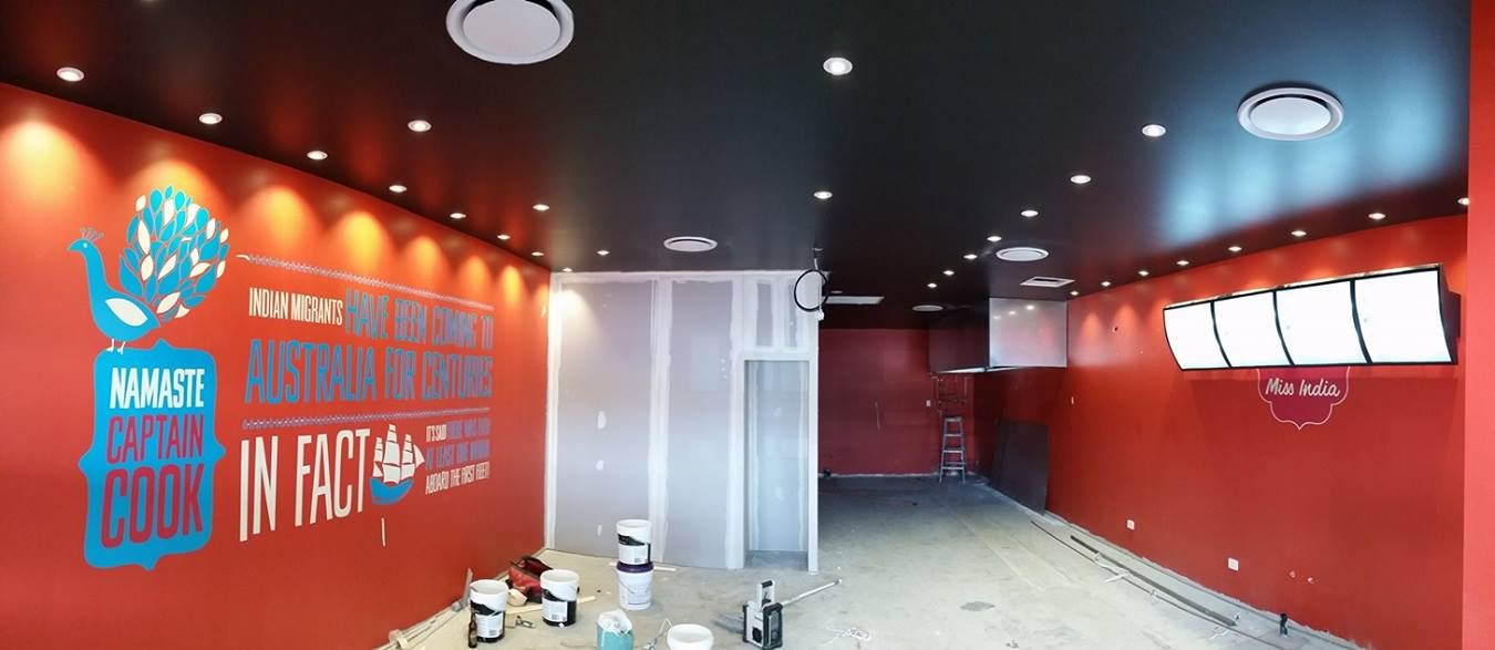 Shop fit out, electrical work - Finish